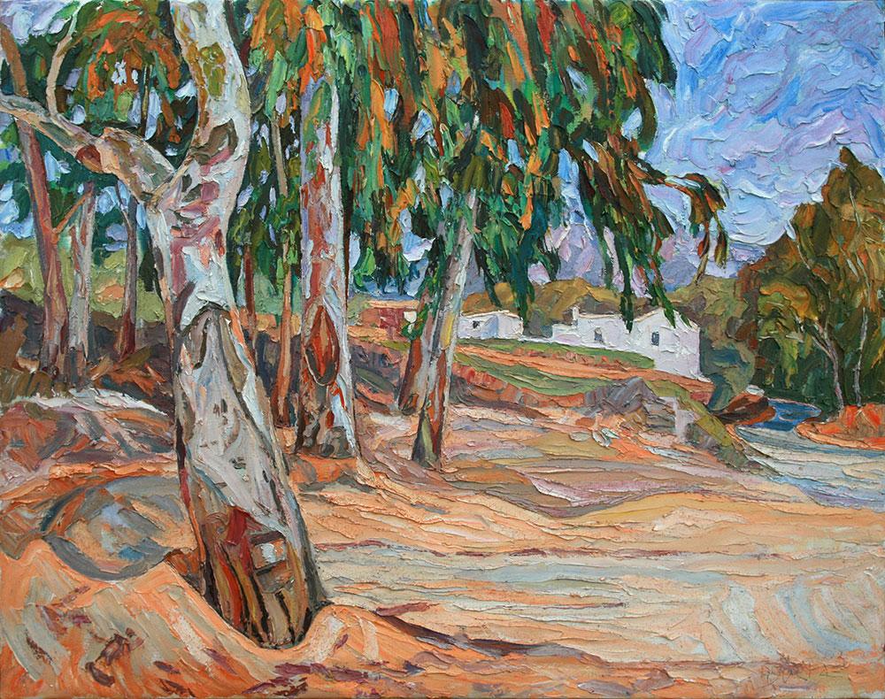 Eucaliptos camino del pantano