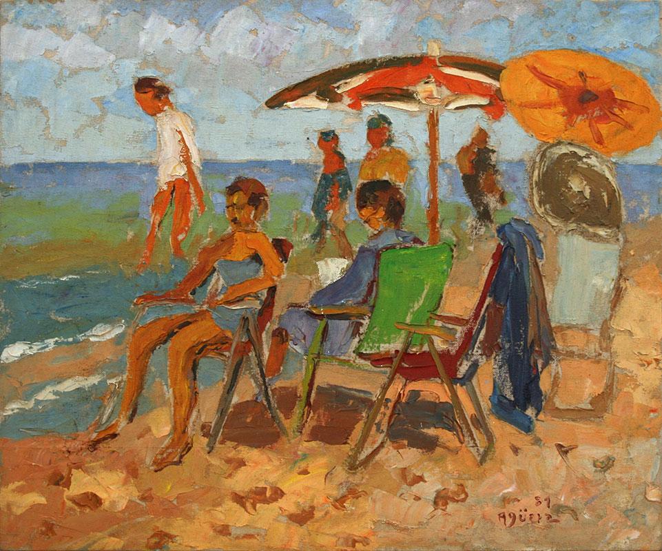 Sombrillas en la playa