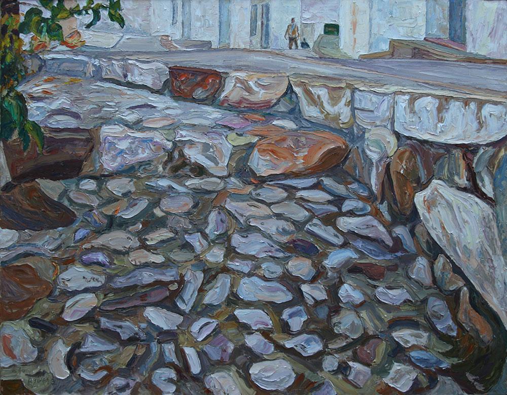 Piedras en el suelo
